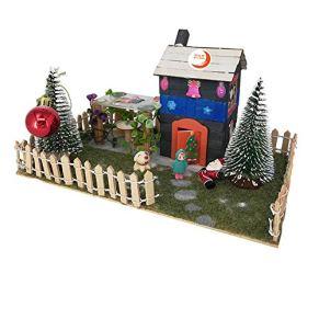 Bloques de construcción de Bricolaje Montado Creativo Educativo Casa de Bricolaje Cabaña de Navidad Modelo de…