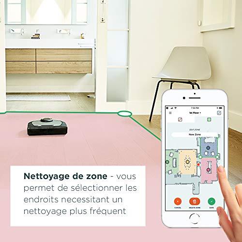 51fIT8UtWML [Bon Plan Neato] Neato Robotics D701 Connected - Compatible avec Alexa - Robot aspirateur avec station de charge, Wi-Fi & App