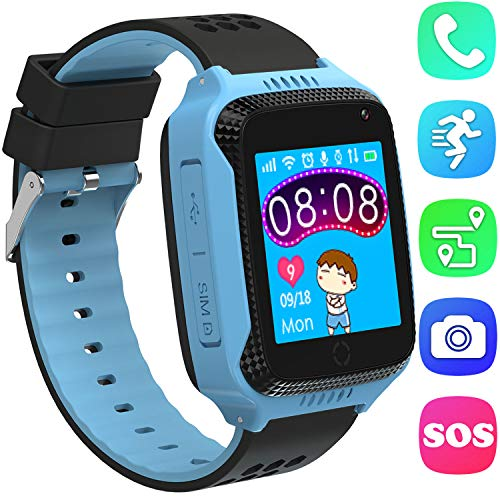 Kids Smartwatch, orologi intelligenti GPS Tracker per ragazze dei bambini con SOS allarme anti-perso...