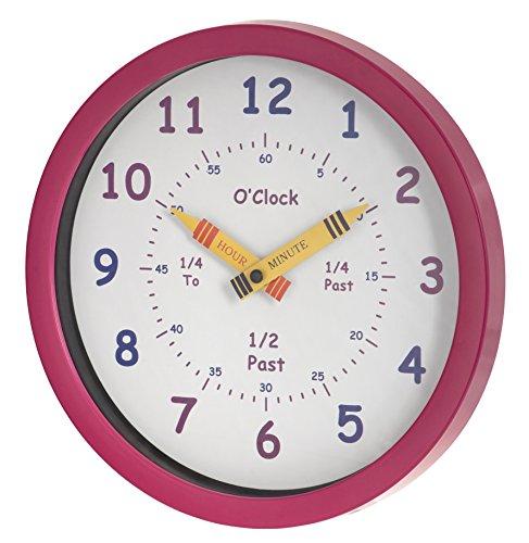 Unity Orologio Henley per Bambini 25 cm Impara a Leggere l'Ora, Colore Rosa