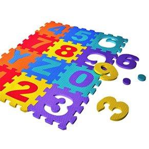 Supertop 36 Piezas Pop Out Puzzle Mat Bebé Interlocking Soft Foam Floor Mats Baldosas para el Suelo Juego para Niños Mat…