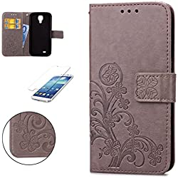 ff74d08ef27 CaseHome Compatible For Samsung Galaxy S4 Wallet Suerte Trébol Funda,PU  Leather Cuero Suave Cover