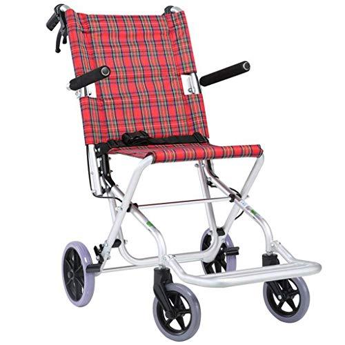 GX-Wheelchair Sedia a Rotelle - Passeggino per Uomo Anziano da Viaggio Leggero per Bambini...