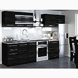 JUSTyou Torino I LED Cocina completa 300 cm Modelo de manija II