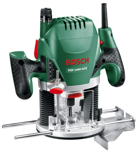 The Bosch POF 1400 ACE Plunge Router is our second best model and it happens to be a fantastic router coming at very reasonable price. It accepts 1/4–inch, 8mm, and 6mm bits plus it's fairly easy to fit and remove bits. Its 1400W motor with constant electronic speed control enables even the most demanding jobs to be done.