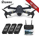 EACHINE E58 Drone Pliable Quadcopter, Drone avec caméra FPV WiFi Drone avec Camera 2.0MP - Forfait de 3 Batteries