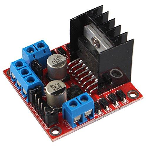 logical voltage: 5V Drive voltage: 5~ 35V logical current: 0~ 36ma Corrente di azionamento: 2A (max unico ponte) Modo di funzionamento: h-bridge Chip: l298N Temperatura di stoccaggio: -20~ + 135'C Potenza: 25W Lista di imballaggio: 1...