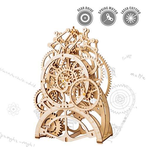 ROKR Pendulum Clock Kit-Clock Model Building Kit Mechanical Wooden Gear - Puzzle in Legno 3D...