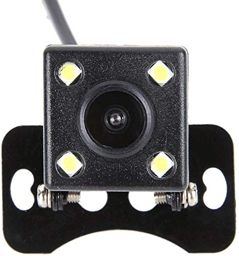 Cámara de Marcha atrás, cámara de visión Trasera HD CCD de 4 LED para Coche, 170 Grados, Gran Angular, cámara de Seguridad Impermeable y visión Nocturna, cámara de estacionamiento para visión Trasera