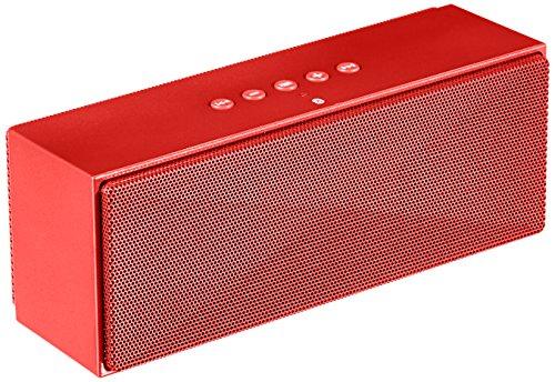 AmazonBasics - Altoparlanti Bluetooth portatili - Rosso