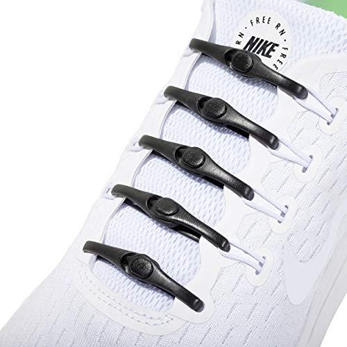 Hickies Neu 2.0 Performance elastische Schnürsenkel, passend für alle Größen, kein Schnüren erforderlich - schwarz