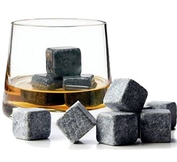 9-Whisky-Eissteine-Getrnke-Khler-Cubes-Whiskey-Scotch-on-the-Rocks-Granit-grauwei