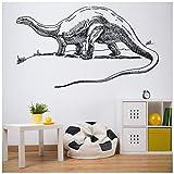 azutura Alamosaurus Vinilos Dinosaurio jurásico Pegatina Decorativos Pared Niños Dormitorio Decoración Disponible en 5 tamaños y 25 Colores Grande Tuerca marrón