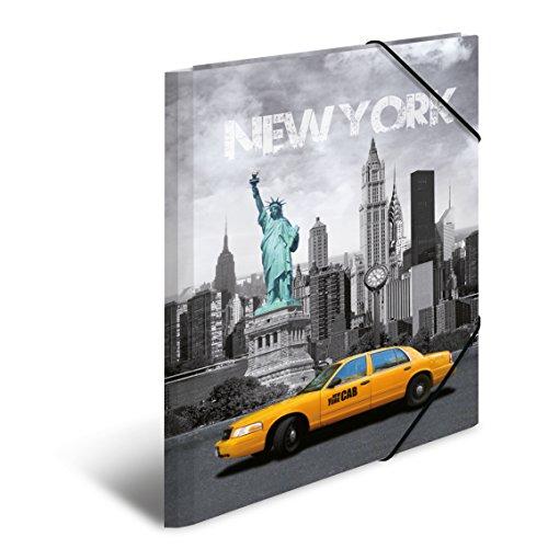 Herma 7263 Sammelmappe DIN A4 Kunststoff, Motiv USA New York, Serie Städte, Eckspanner, 1 Zeichenmappe