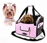 Valentina Valentti Luxus-Transporttasche für Hunde, zum Transport auf dem Autositz, Rosa