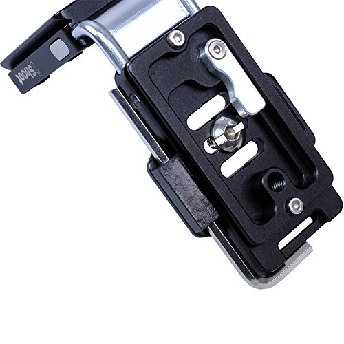 iShoot Improved Universal Vertical Quick Release Plate L Bracket Grip for Arca Fit Tripod Ball Head and Most SLR/SLT Camera --- Adjustable and Multifunctional