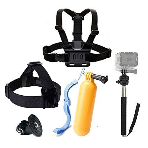Theoutlettablet Set di 4 accessori per Videocamera GoPro Hero 4 3+ 3 2 1, Kit accessori per SJ4000...