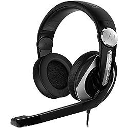 Sennheiser PC 330 - Auriculares de diadema cerrados (Con micrófono), negro