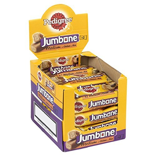 Pedigree Jumbone Adult Dog Treat, Chicken & Rice, 12 Packs (12 x 200g)