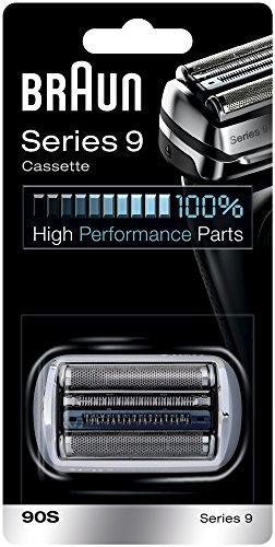 Braun 90S - Recambio para afeitadora eléctrica, compatible con afeitadoras Series 9, color plata