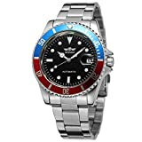 FORSINING Men's Vintage Automatic Selfwind Stainless Steel Bracelet Collection Watch with Dots WRG8066M4T6