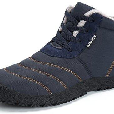 be8bbc6865e SAGUARO Homme Femme Chaussures De Neige Bottes Hiver Bottines Fourrées  Chaudes Boots Lacets Plates