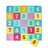 Puzzle goma EVA de 26 piezas | Alfombra infantil puzzle de números | Alfombra puzle (26 piezas) | Alfombra goma para bebé | Alfombra bebe | Alfombra puzzle de numeros