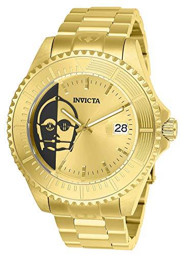 Invicta 26166 Star Wars Herren Uhr Edelstahl Automatik goldenen Zifferblat
