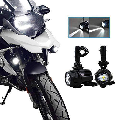 Faretti LED Moto Supplementari, SUPAREE Fari Antinebbia Moto faro Moto LED Anteriore per Moto...