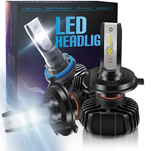 BeiLan Lampadina H4 Led, Hb2 9003 CSP 60W 9000 LM Fari Abbaglianti o Anabbaglianti per Auto Kit -...