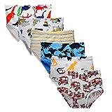 Kidear Ropa Interior Kids Series de Algodón Suave Calzoncillos Surtidos de niños pequeños(Paquete de 6) (Estilo4, 3-4 Años)