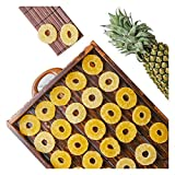 FabBox Preservative Free Sweet and Delicious Tasty Healthy Dried Pineapple Rich in Nutrients Gluten Free - 140GM