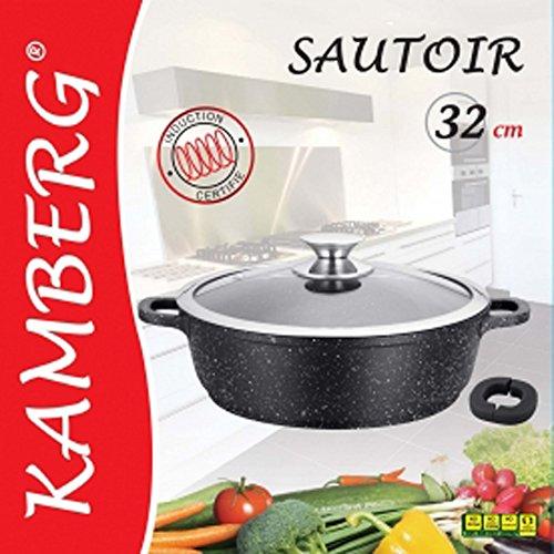 Kamberg - 0008042 - Tegami 32 cm - Ghisa di Alluminio - Rivestimento Antiaderente di Alta...