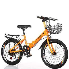 SYCHONG Niño De Bicicletas De Montaña Variable La Velocidad Doble Freno Plegable Bicicleta MTB Niño
