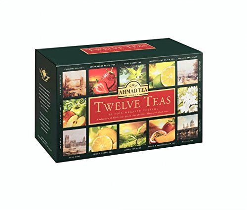 Ahmad Tea Twelves Teas (Pack of 1, Total 60 Enveloped Tea Bags) [Grocery]