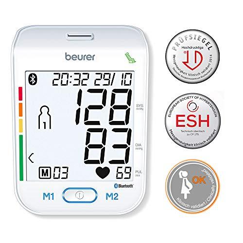 Beurer BM 77 Misuratore di Pressione da Braccio con Connessione Bluetooth, Indicatore del Valore a...