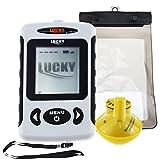 Lucky inalámbrico portátil sonar sensor detector de peces detector de peces con Dot Matrix 45m rango impermeable para la pesca en el lago de mar (idioma inglés)