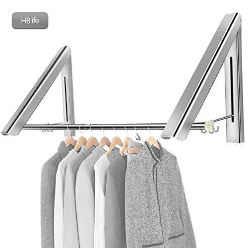 HBlife Appendiabiti pieghevole in alluminio Attaccapanni a scomparsa Gancio vestiti