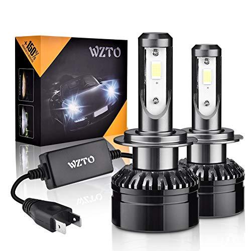 WZTO Lampadine H7 LED 10000LM, 6000K 12-24V Fari Abbaglianti o Anabbaglianti per Auto,IP65...