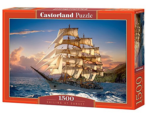 Castorland C151431Sailing al Tramonto, Puzzle da Pezzi