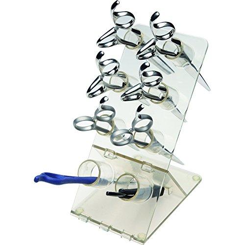 Olivia Garden Handy Shear Organizer Puo' contenere 6 paia di forbici e 2 rasoi, struttura robusta in Plexiglass