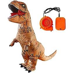 WXGY Body de Disfraz de Dinosaurio T-Rex Inflable Jurassic World soplador para Accesorios de Fiesta para Adultos y niños