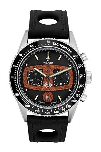 Orologio uomo–Yema–rallygraf–Pelle Nero...