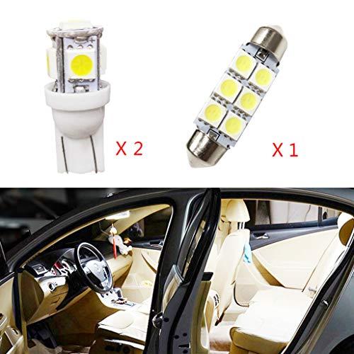 Per Yaris L LED Super Luminosi Bianco Lampadine per Luci Interne Auto Per Porte Interne di Auto Luci...