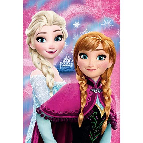 COPERTA Plaid Frozen Elsa Anna Disney in Pail CM.100x150 - 55884