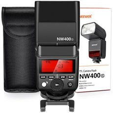Neewer 2,4G HSS 1/8000s GN TTL inalámbrico Master esclavo Flash Speedlite para Sony A7A7R A7S A7II A7RII A7SII A6000A6300A6500A77II A58A99RX10Cámaras con duro difusor (nw400s)