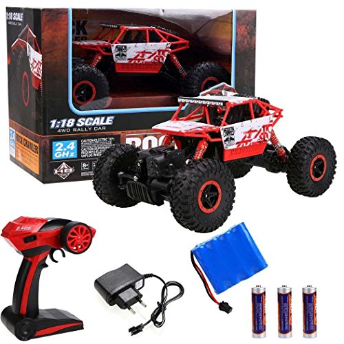 Kids Choice Rock Crawler 1:18 Scale 4Wd 2.4 Ghz 4X4 Rally Racing Car Remote Control Mini Rocking Car (Multicolor)
