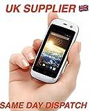 Posh mobile phone micro x S24099% plastica Worlds Smallest mobile phone 4G sbloccato Android (bianco)