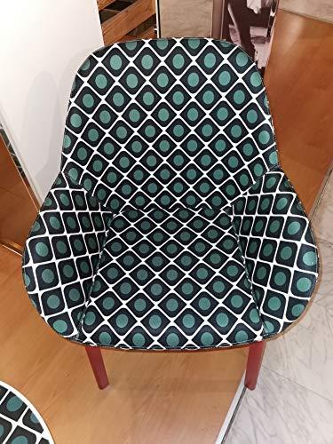 Kartell Clap Little poltrona con struttura rosso e la double J olive tessuto copre