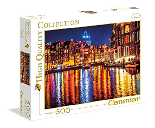 Clementoni - 35037 - High Quality Collection Puzzle - Amsterdam - 500 Pezzi